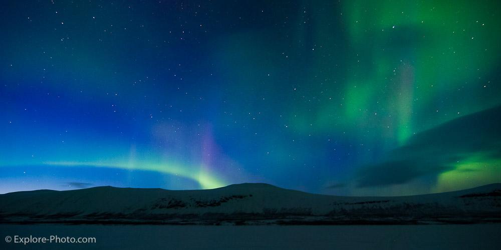 4- Sous la neige, et les aurores boréales…