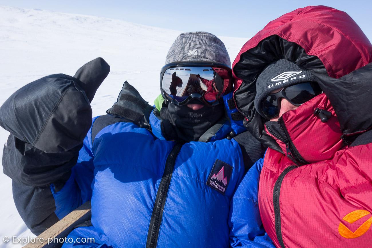 Vêtement doudoune valandré expédition grand froid