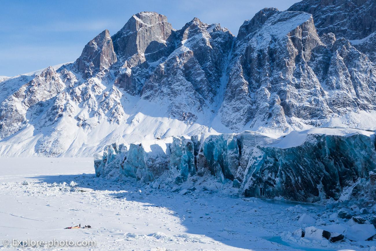Front du Glacier du Couronnement Terre de Baffin